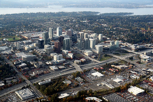 Photo of Bellevue, Washington by Jelson25/Wikimedia Commons.