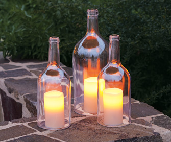 16 ways to reuse wine bottles care2 healthy living for How to make candle holders out of wine bottles