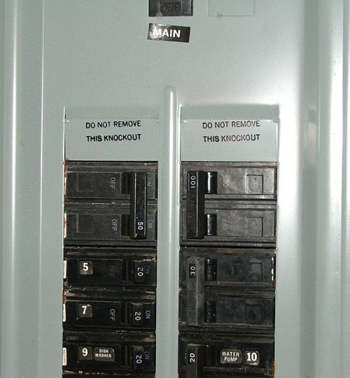 A breaker box. Photo: Wikimedia Commons.