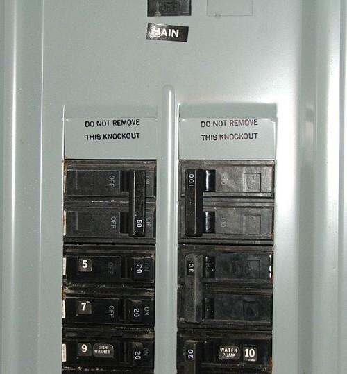 A breaker box. Photo: Wikimedia Commons.